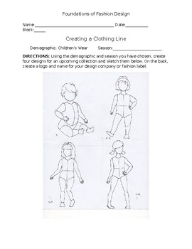 Create A Clothing Line Assignment By Katherine Whatley Tpt