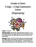 Create a Clown 2 Digit Subtraction With Regrouping Game