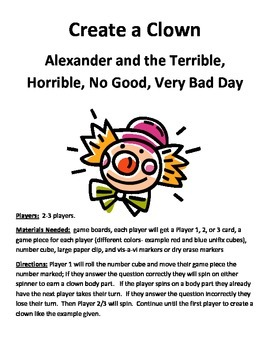 Create a Clown: Alexander and the Terrible, Horrible, No Good, Very Bad Day