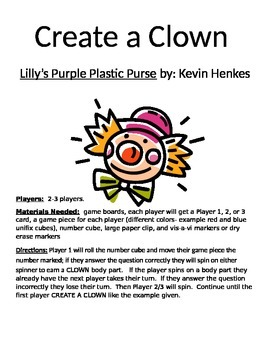 Create a Clown Lilly's Purple Plastic Purse by Kevin Henkes