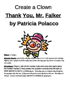 Create a Clown Thank You, Mr. Falker by Patricia Polacco Game
