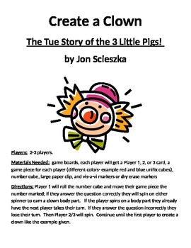 Create a Clown: The True Story of the 3 Little Pigs! by Jo