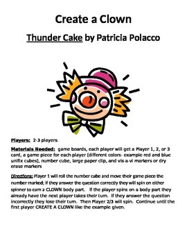 Create a Clown: Thunder Cake by Patricia Polacco