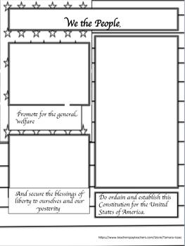 Create a Comic /Booklet (CONSTITUTION PREAMBLE)