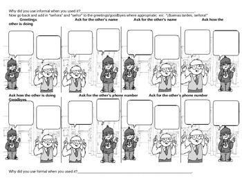 Create a Spanish Comic Strip