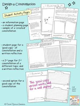 Design a Constellation! Writing and Drawing Activity - Grades 3 to 5
