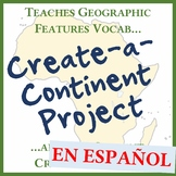Create-a-Continent - Creative Geography Features Vocab Pro