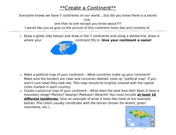 Create a Continent Geography Lesson