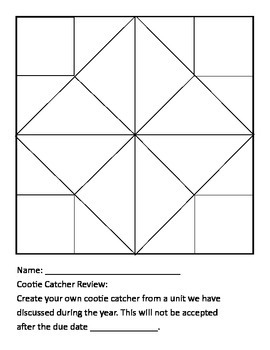 Create a Cootie Catcher Review
