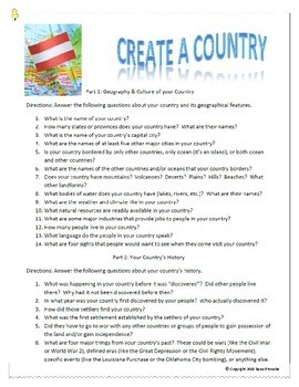 Create a Country Geography & Writing Project