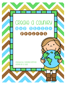 FREE Create a Country Map Skills Project