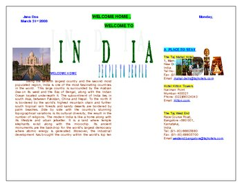 Create a Country of Origin Poster Using Microsoft Word