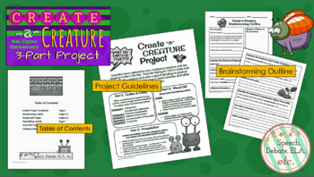 Create-a-Creature 3-Part Project (Mid-Upper Elementary)