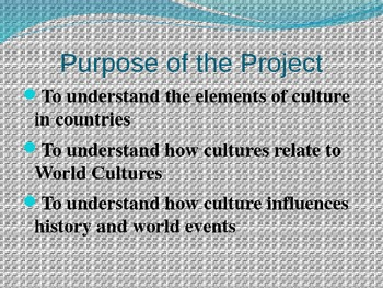 Create a Culture Project