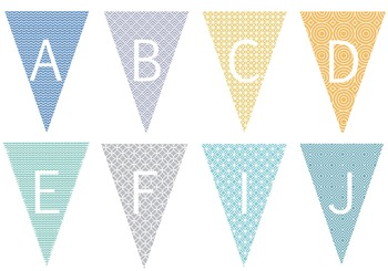 Create a Customized Banner with a Fun Patterned Background - LETTERS