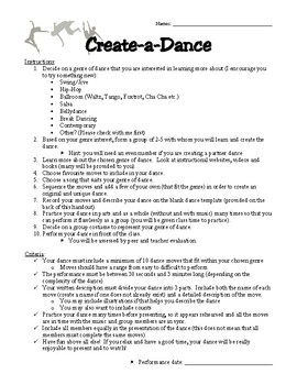 Create-a-Dance Project