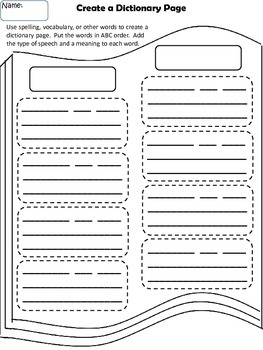 Create a Dictionary Page