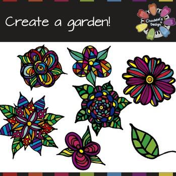 Create a Doodle Flower Garden