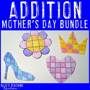 Create a FUN Last Minute Mother's Day Card from ADDITION Math Puzzles! {NO PREP}