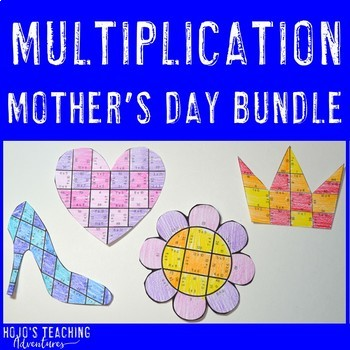 Create a FUN Last Minute Mother's Day Card from MULTIPLICATION Math Puzzles!