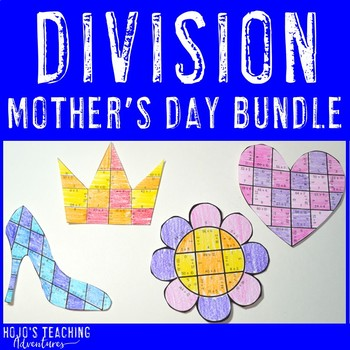 Create a FUN Last Minute Mother's Day Craft from DIVISION Math Puzzles! *NO PREP