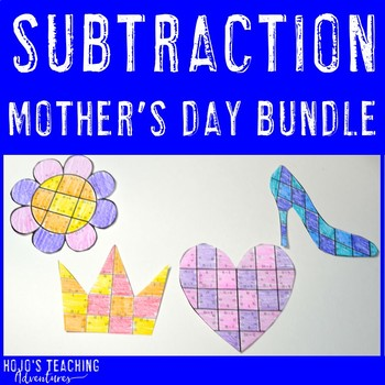 Create a FUN Last Minute Mother's Day Craft from SUBTRACTION Math Puzzles!