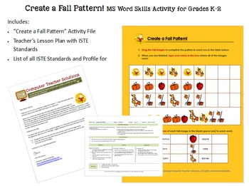 Create a Fall Pattern! For use in GOOGLE Docs or MS Word