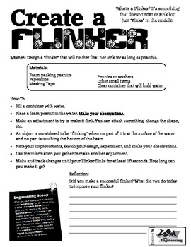 Create a Flinker- Does It Sink or Float Buoyancy Engineering Challenge