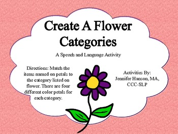 Create a Flower Category Cut Up A Cut and Paste Activity