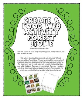 Create a Food Web/Chain Activity Forest Biome
