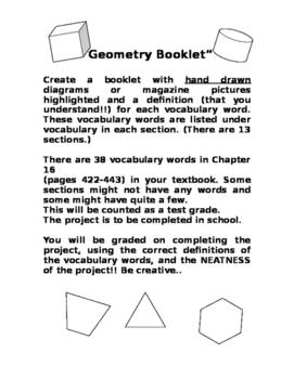Create a Geometry Booklet * Editable