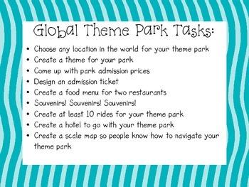 Create a Global Theme Park