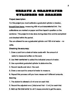 Create a Graduated Cylinder or Beaker