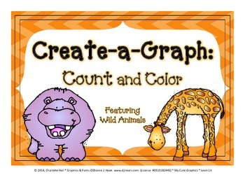 Create a Graph: Count and Color - Wild Animals