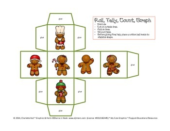 Create-a-Graph: Roll, Tally, Count, and Color - Christmas Cookie Edition