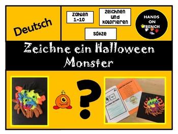 Create a Halloween Monster in German mini-book