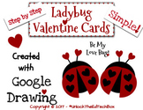 Create a Simple Ladybug Valentine Card in Google Slides or Google Drawing
