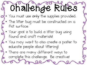Create a Litter Bug: Engineering Challenge Project ~ Great STEM Activity!