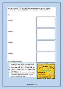Poem Worksheet: Create a Lune