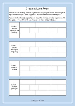 Poem Writing Worksheet