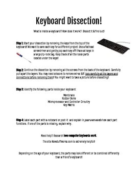 Makerspace: Keyboard Dissection