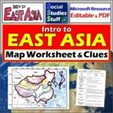 East Asia Map Labeling Worksheet | Absolute & Relative Location Clues