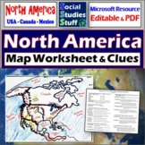 North America Map Labeling Worksheet | Absolute & Relative Location Clues