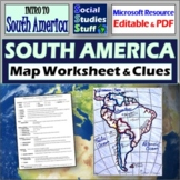 South America Map Labeling Worksheet | Absolute & Relative Location Clues