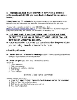 Create a Marketing Plan for a New Realty TV Show