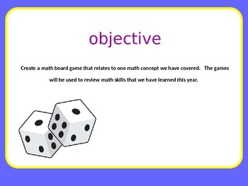 Create a Math Board Game_Culminating Project or Unit Review