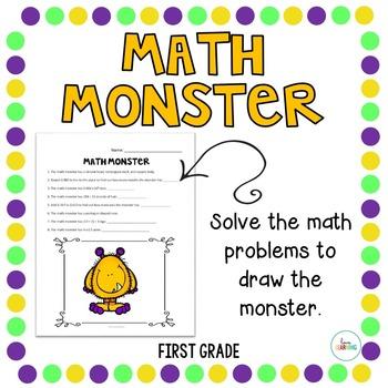 Create a Math Monster {1st Grade}