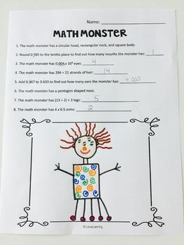 Create a Math Monster {2nd Grade}