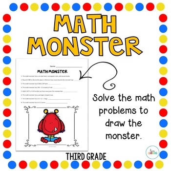 Create a Math Monster {3rd Grade}