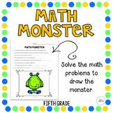 Halloween Math Monster: Fifth Grade